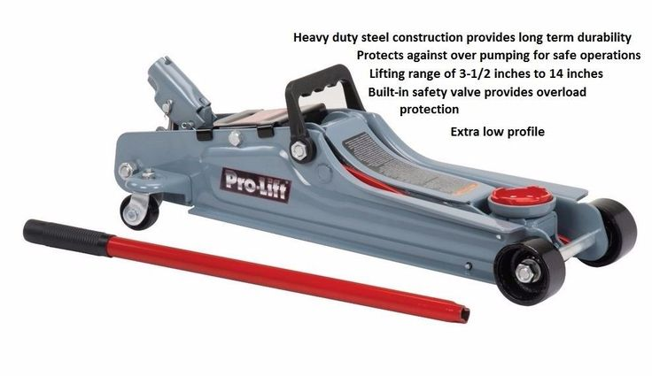 2 Ton Hydraulic Floor Jack Vehicle Car Auto Lift Pump Heavy Duty Low Garage Shop #ProLift