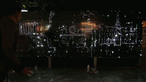 Water Light Graffiti d'Antonin Fourneau, produit au Artlab Digitalarti   digitalarti.com