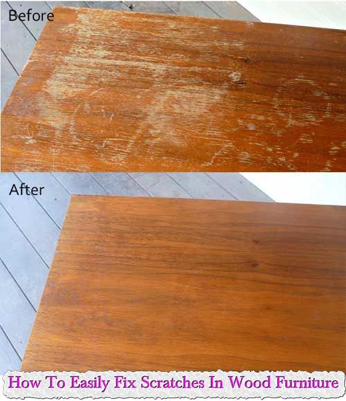 How To Easily Fix Scratches In Wood Furniture Cleaning Pinterest Wood Furniture Woods And