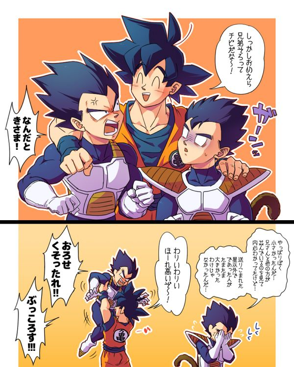 Dragon Ball Z Cartoon Characters Names : Dbz goku picks up vegeta if only i could read japanese