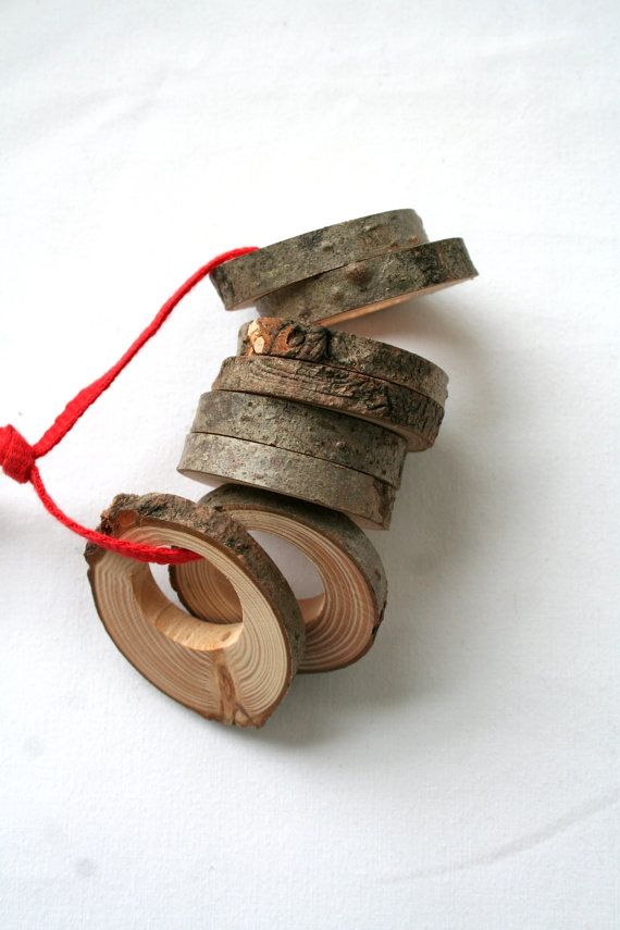 Wood napkin rings for rustic home decor  set of 8 by LIGAMENTUM, €12.50