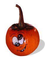 A funny pumpkin face