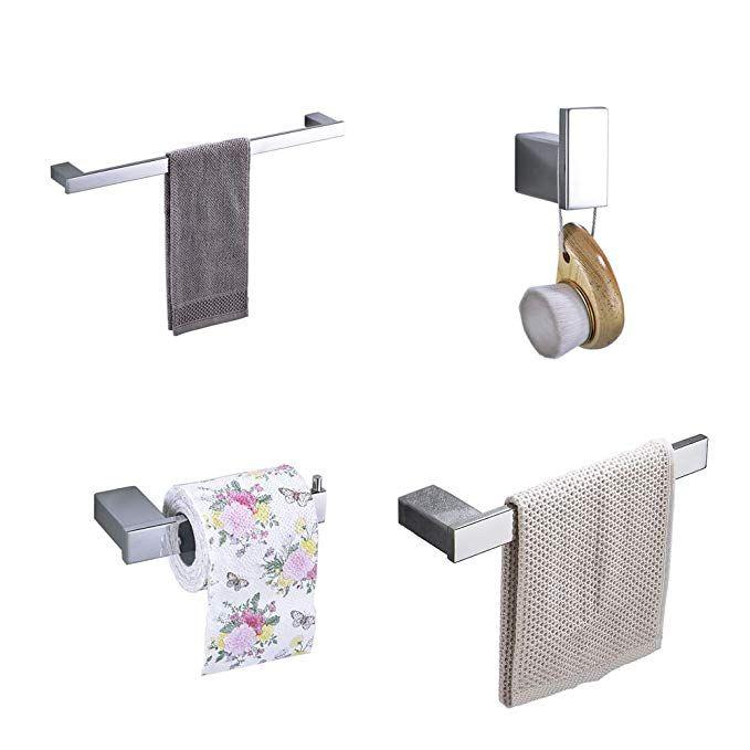Hiendure 4 Piece Bathroom Accessory Set With 23 Towel Bar Towel