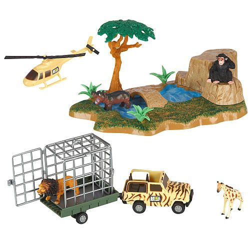 Animal planet micro kingdom african safari oasis playset for Cuisinette toys r us