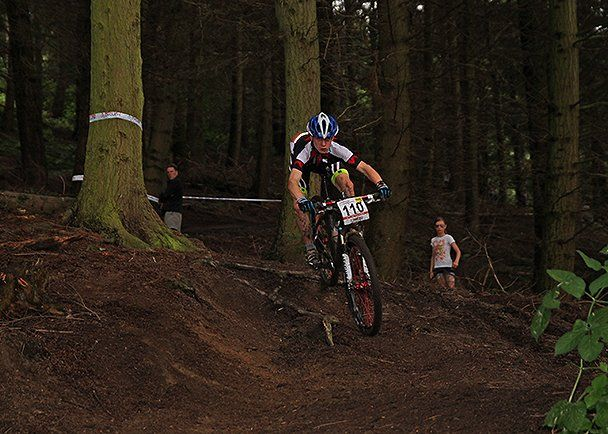 National MTB Champs Hopton Castle 2014 020 Cam keeps racing his Factory Flux 27.5