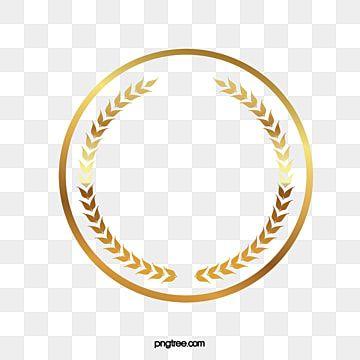 الذهب دائري الحدود إطار ذهبي هامش دائري حدود عطلة الإبداعية Png وملف Psd للتحميل مجانا Gold Clipart Clip Art Borders Hand Painted Frames