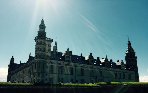This is  Kronborg Castle, Helsingor, Denmark. Dubbed 'Hamlet's Castle' (or as it is known in the play - Elsinore)