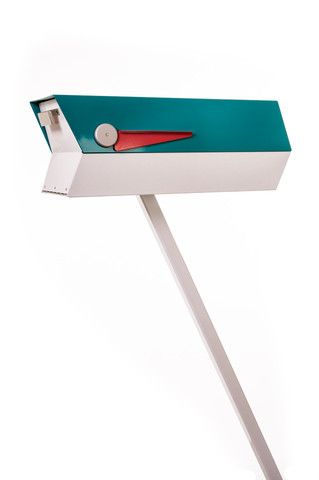 "Okay, so it isn't a ""fixture"" but it is cool! Mid-Century Mailbox in Turquoise/White from Modboxusa.com. Lots of other fun colors available!"