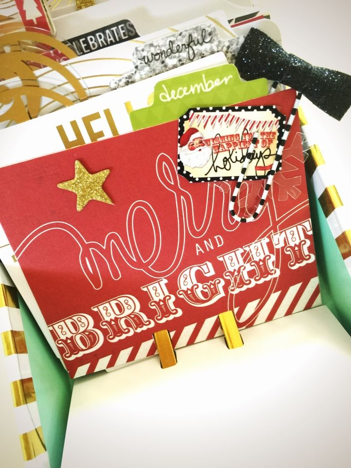 Jot Girl Lauren Hender has used Heidi's super fabulous Christmas range and her Kraft and Foil Project Life kit to create a fun festive December Daily Project MEMORY DEX.