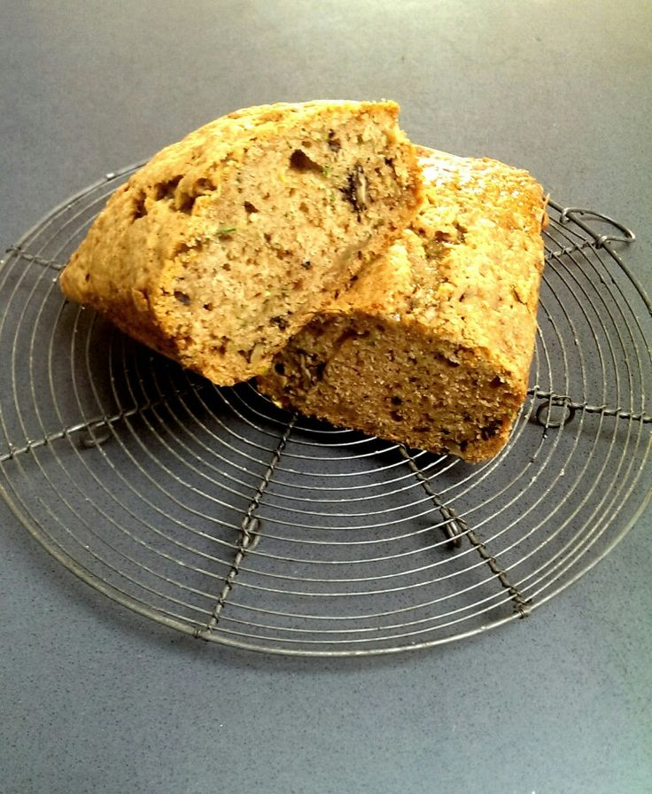 Zucchini bread with toasted walnuts