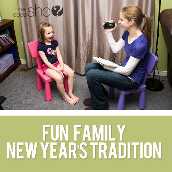 Love this idea - interview your kids every New Year. Ask them the same questions, then watch their answers change as they get older. So fun.