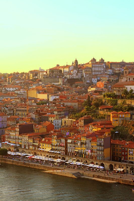 Portugal, sunset in the city of Porto. Oh, yes.