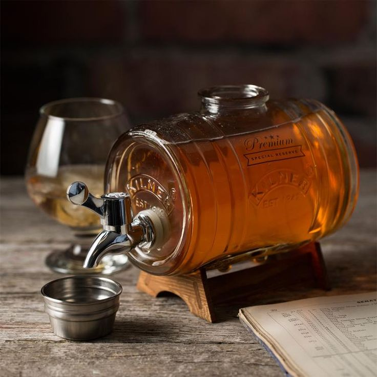 The Kilner Barrel Drink Dispenser is the perfect solution for storing and dispensing your precious liquor. With an easy pouring tap, stainless steel stopper that doubles as a measure jigger and an elegant wooden stand to elevate the barrel for an easy pour. Ideal for brandy, whisky, cognac, port, vodka or rum.