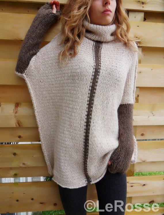 Maglia tricot oversize/Slouchy/Loose. Maglia di Alpaca /Merino. Fatte su ordinazione.