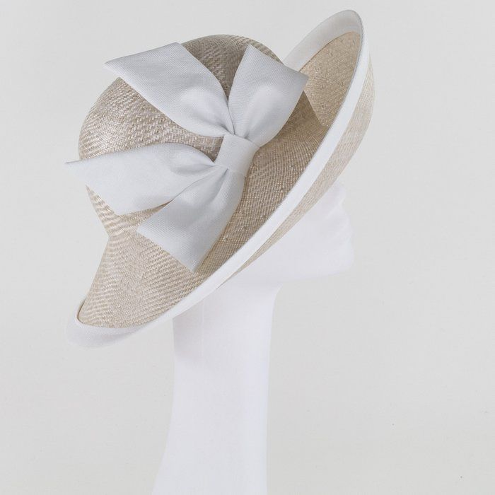 Whiteley Hats Occasion Hat - String/White