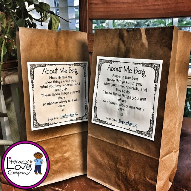 """Paper bags have always been there to hold our """"stuff"""" but it's time to give the paper bag the glory it deserves!  Here are 8 clever classroom uses that'll make you want to """"brown bag"""" it this school year. Includes - All About Me Bag FREEBIE!"""