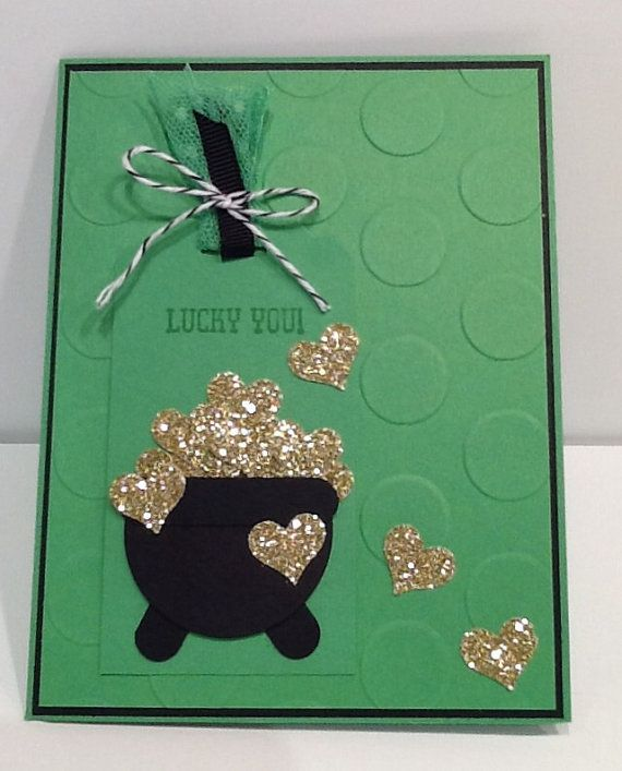 St. Patrick's Day Card  Handmade St. Patty's by Inked2perfection