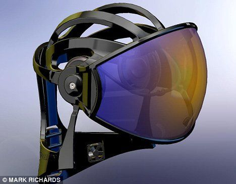 I doubt this is actually a real HMD but damn it look like something from Halo. Cool!