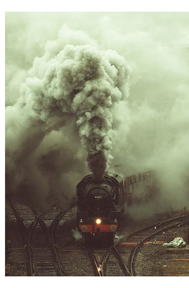 During the industrial revolution, goods were taken from one place to another by train. Trains made getting things to other places faster and easier.