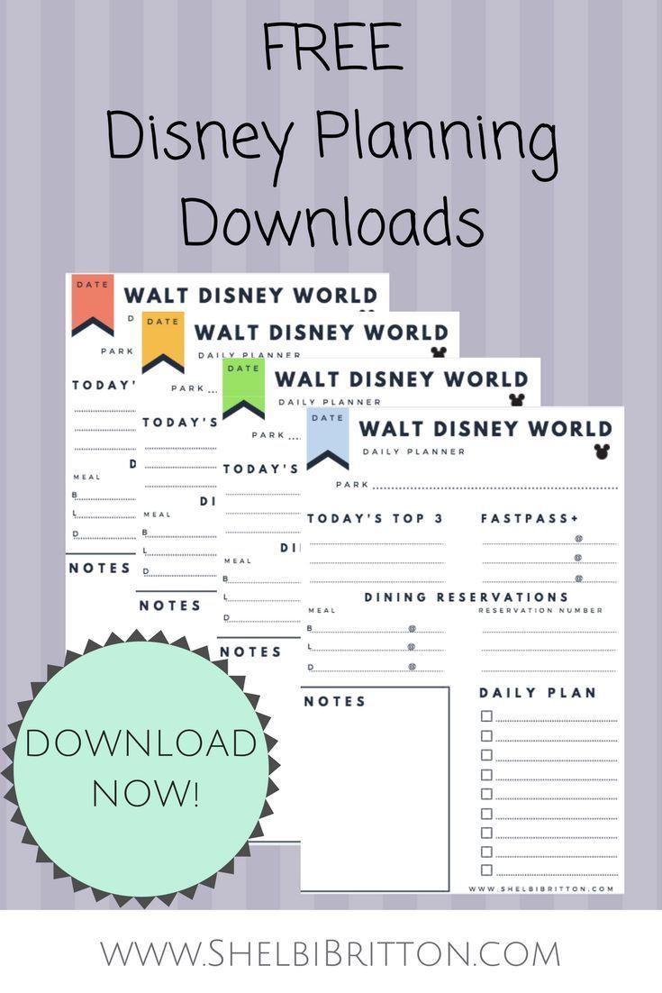 Free Walt Disney World vacation planning printables! Download these free Di…  Disney world