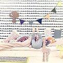 Dit leuke behang van Ferm Living geeft een stoer en toch stijlvol beeld van de kamer. Door het materiaal is het gemakkelijker en sneller aan te brengen, en dat