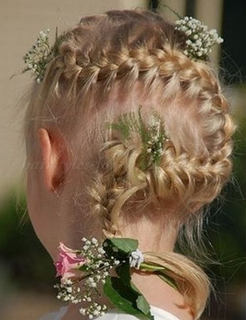 Wondrous 1000 Images About Flower Girl Hairstyles On Pinterest Flower Short Hairstyles For Black Women Fulllsitofus