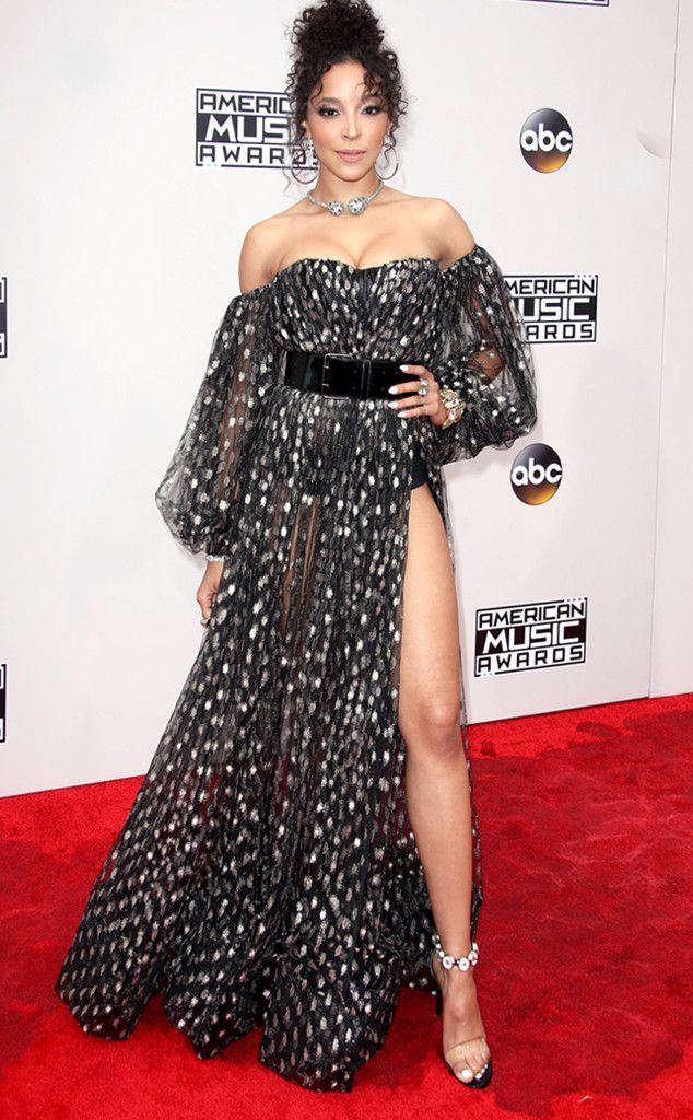 Tinashe from 2016 AMAs Red Carpet Arrivals  In Michael Costello