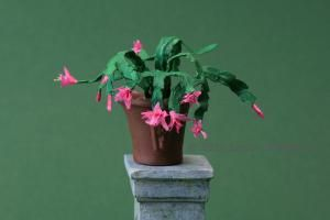 Tiny Christmas Cactus You Can Make: Make a Scale Miniature Christmas Cactus or Other Holiday Cacti