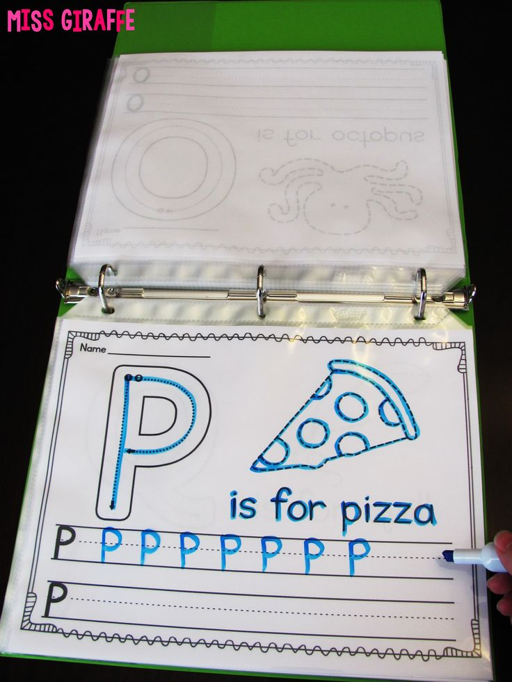 Alphabet letters writing practice worksheets that are perfect for throwing in sheet protectors in a binder and using a dry erase marker to use over and over!