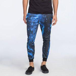 ELWOOD Blue Galaxy Mens Jogger Pants - XL