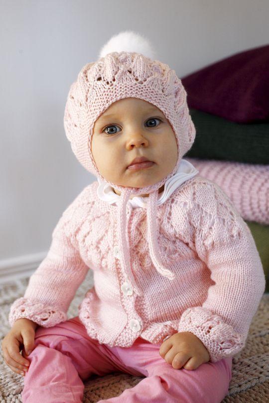 Vauvan pitsineulenuttu 70(80) cm Novita Ipana | Novita knits