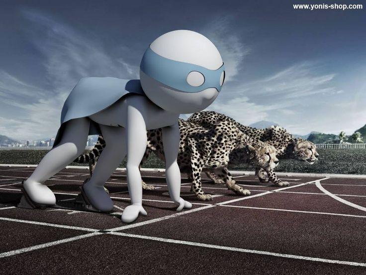 Pour le championnat d'Europe d'Athlétisme de Zürich, Super Yonis est prêt à faire parler sa vitesse. Yonis-Shop.com