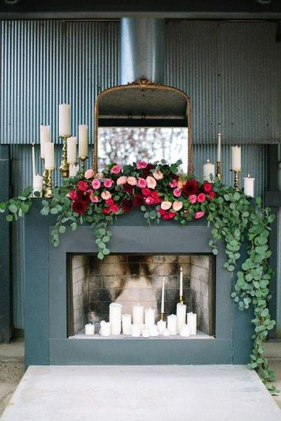 Winter Florals - How To DIY Your Holiday Mantel - Photos