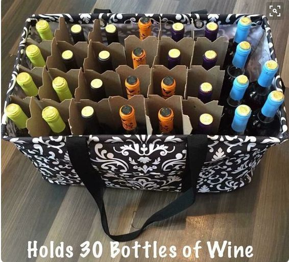 Wine Holder Deluxe Utility Tote Thirty-one Gifts