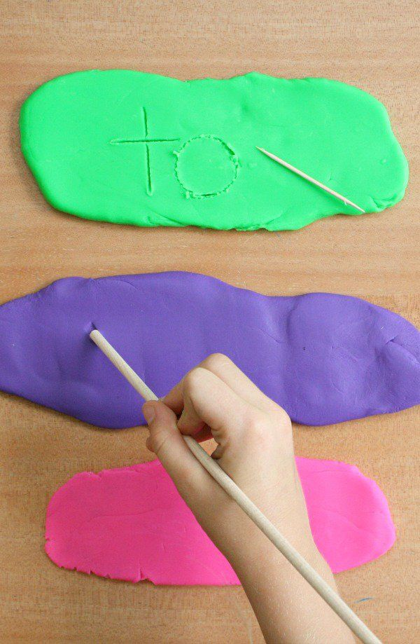Play Dough Sight Word Writing