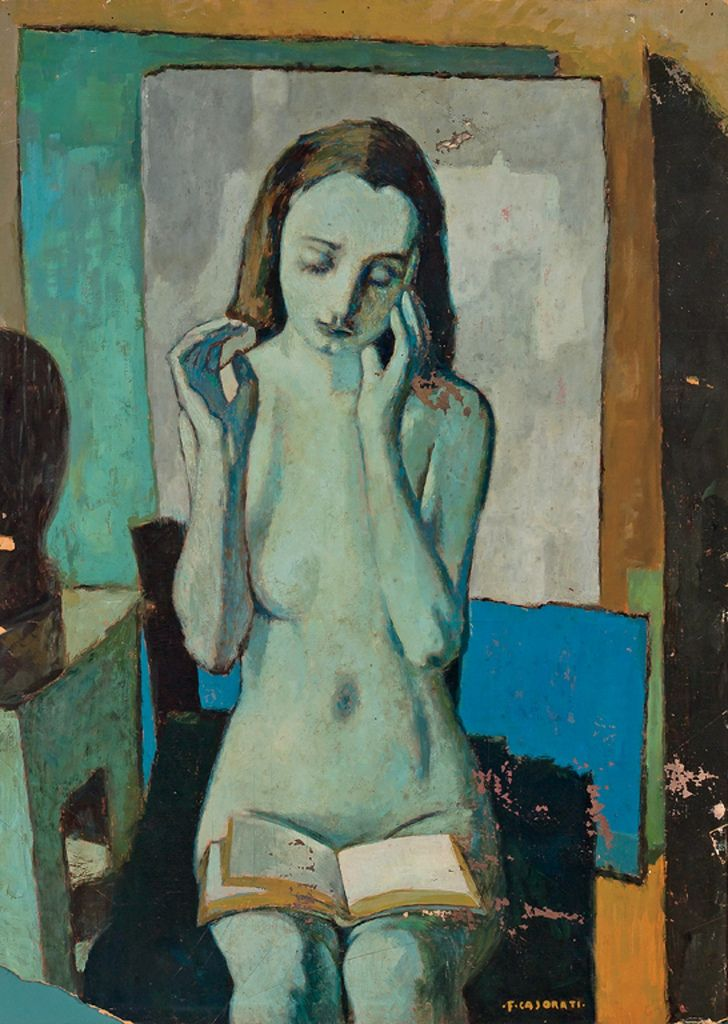 Felice Casorati - Reading a Book