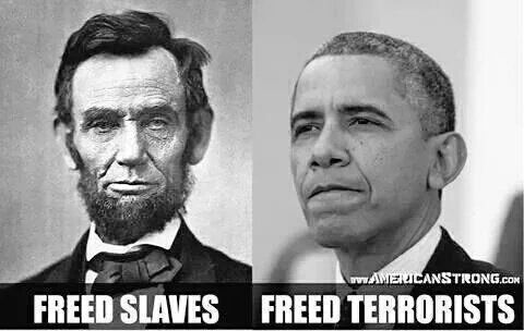 *One Republican President freed slaves.  *One Democrat President freed terrorists. Oh, the irony.  (@kurtwvs) | Twitter