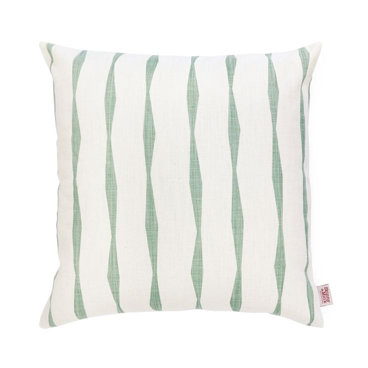 The 'Brancusi Stripe' pillow cover in the delicious new Spruce colourway makes the perfect addition to any home.