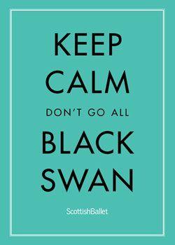 Courtesy of Scottish Ballet #funny #blackswan #swanlake