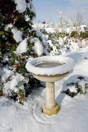 Solar Bird Bath Heater