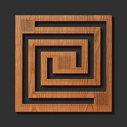 Декоративные Фрэнк Ллойд Райт Лазерная резка древесины Подставки