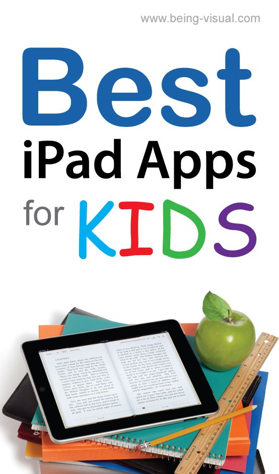 A list of the 12 best ipad apps for kids. #Reading apps and math apps for elementary children.