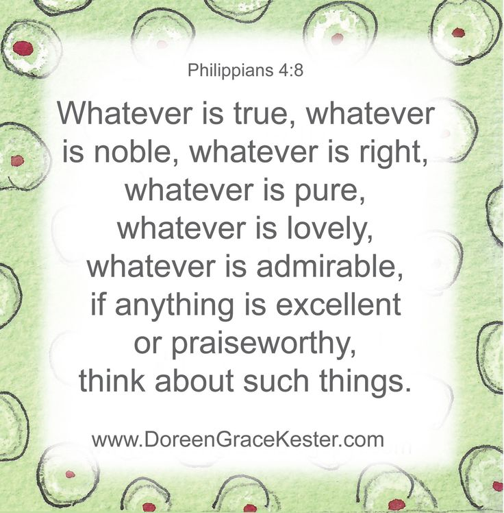 Philipians 4:8 | www.DoreenGraceKester.com