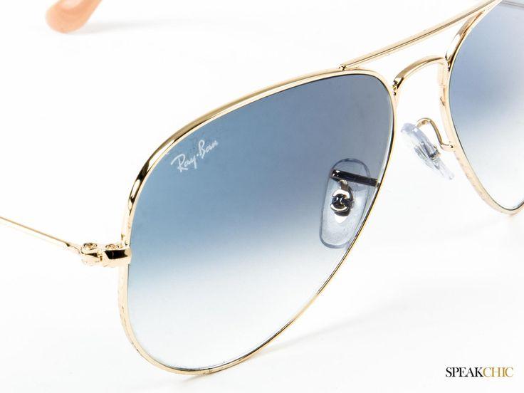 lentes ray ban aviador luna azul