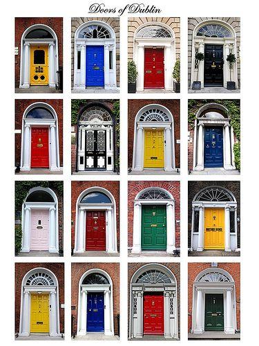 Por que as portas de Dublin são coloridas? Após a morte do príncipe Albert, em 1861, a Rainha Vitória ordenou que todos colocassem bandeiras pretas nas portas de suas casas em sinal de luto. Um irlandês rebelde fez o oposto, pintou as portas de Dublin de diferentes cores.  As mulheres irlandesas estavam cansadas de ver seus maridos errarem a porta de casa quando chegavam em casa bêbados, e por isso elas tiveram a ideia de pintar as portas para que eles conseguissem distinguir as casa.
