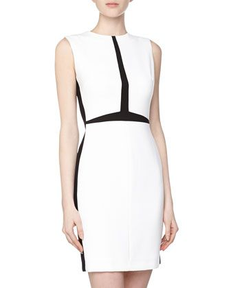 A white dress with black trim in all the right places. $68 (reg$148) #bargain #ClaireUnderwood