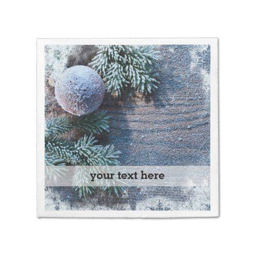 Christmas frozen ornament paper napkin