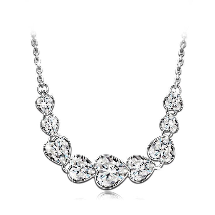 Lady colour Unendliche Liebe Kette Damen mit Kristallen von Swarovski Herz Halskette muttertagsgeschenke…
