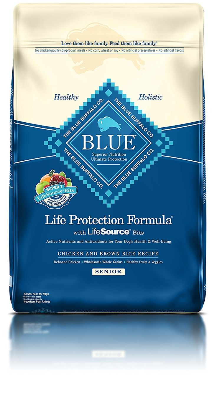 Blue life protection formula senior chicken and brown rice