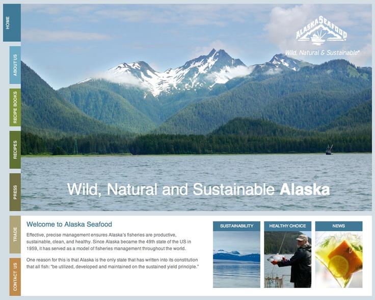 Website for Alaska Seafood